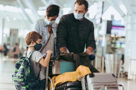Family flying back home