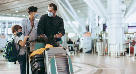 Family going on travel during pandemic