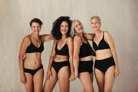Women celebrating the beauty of aging bodies