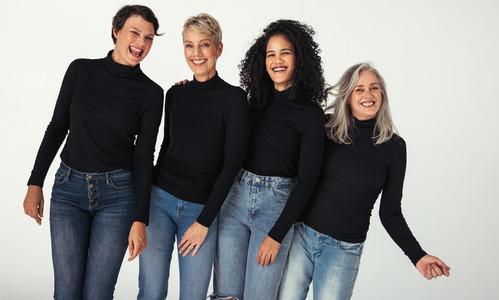 Stunning group of diverse women