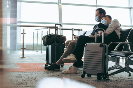 Tourists stranded at airport due to flight delay during pandemic