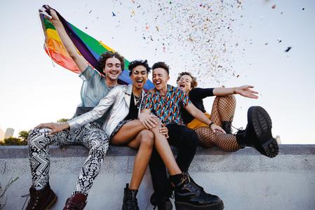 Confetti celebrations of pride
