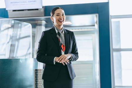 Customer service representative at airport