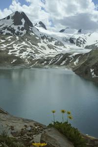 Idyllic mountain and Lake Griessee Switzerland