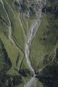 Aerial view Lauterbrunnental Canton of Berne Switzerland