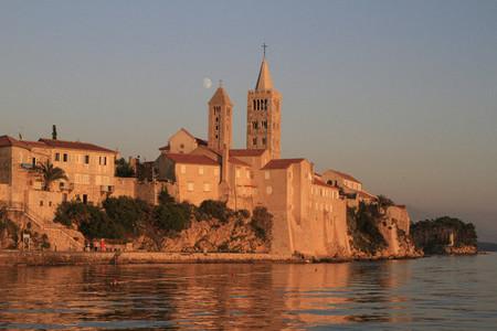 Waterfront village at sunset Croatia