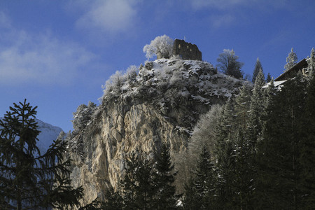 Ruins atop rugged mountain Germany