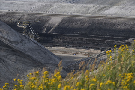 Open pit coal mine Germany