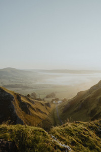 Sunny scenic landscape view England