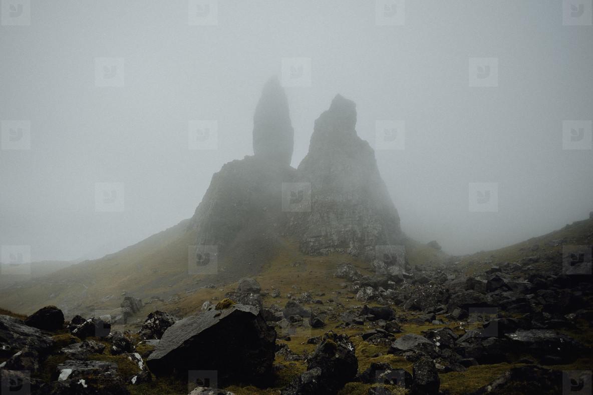 Old Man of Storr rock formation  Scotland