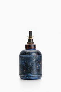 Vintage blue plastic benzine dispenser