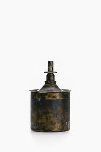 Vintage painted brass benzine dispenser