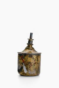 Painted brass vintage benzine dispenser