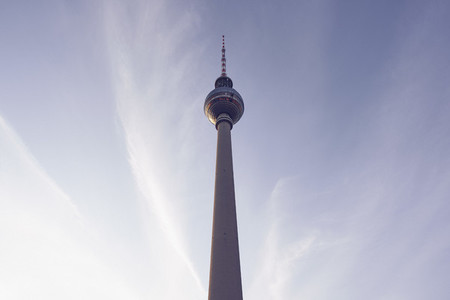 Television Tower against blue sky Germany