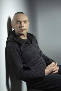 Portrait handsome man in black jacket