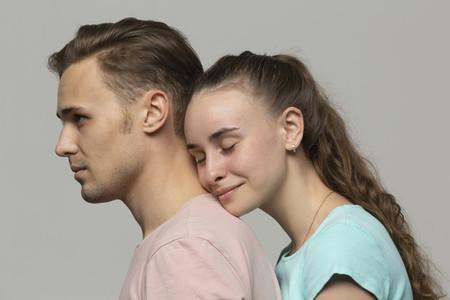 Portrait affectionate young couple