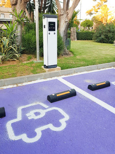 Charging point for electric vehicles in urban street