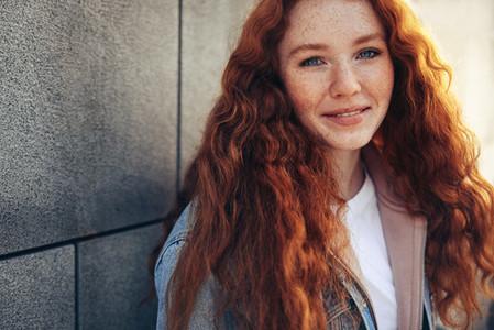 Girl in high school campus