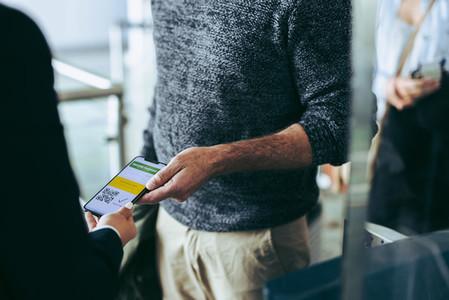 Vaccine passport checking at airport