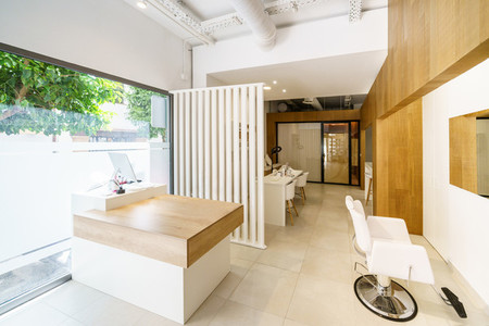 Beauty salon with reception  make up centre and massage room