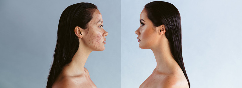Power of makeup and retouching