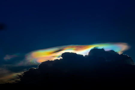 Natural phenomenon  The sky where the light is refracted in the