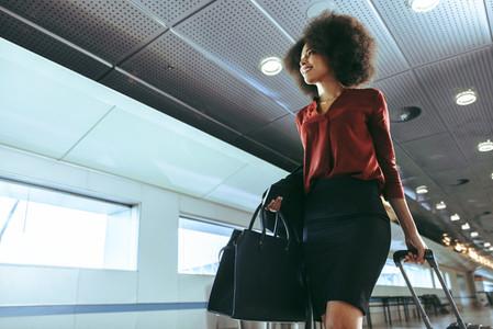 Female passenger in airport