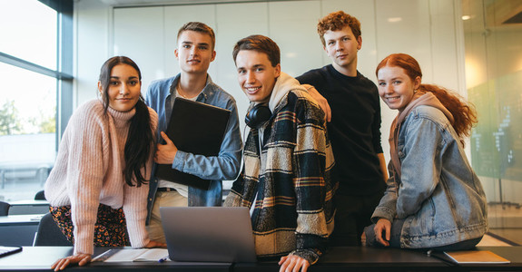 Group of young people in classroom