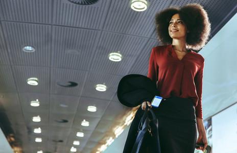 African female traveler