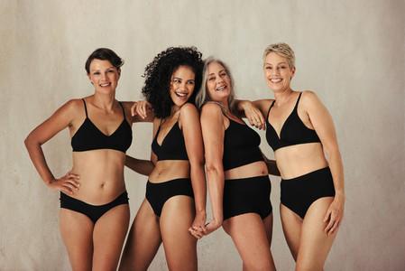 Gorgeous natural women celebrating their bodies