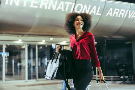 African woman at airport