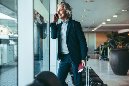 Businessman standing at airport