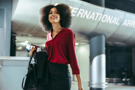 Female business travelers