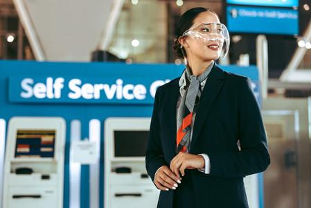 Woman ground attendant