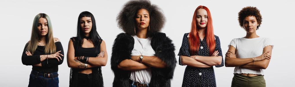 Group of multiethnic women