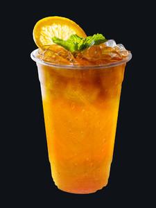 Iced Tea mixed with orange juice with orange slices and mint lea