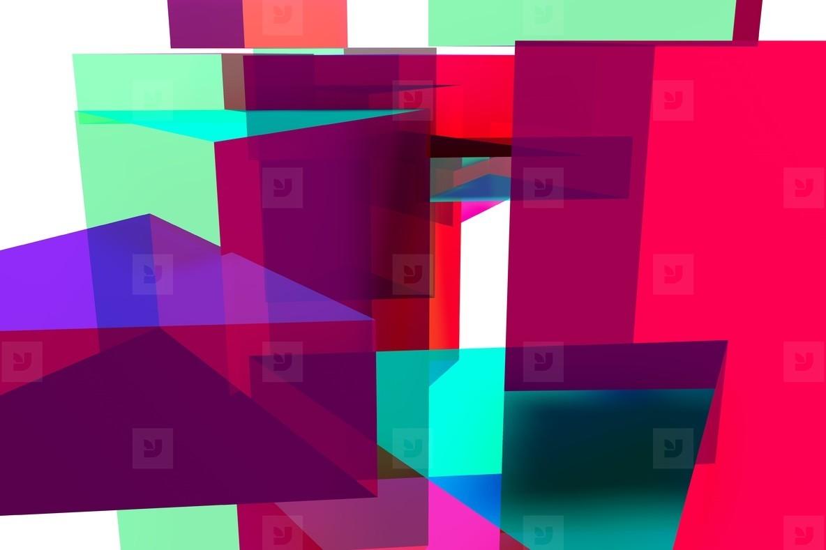 acrylic triangles