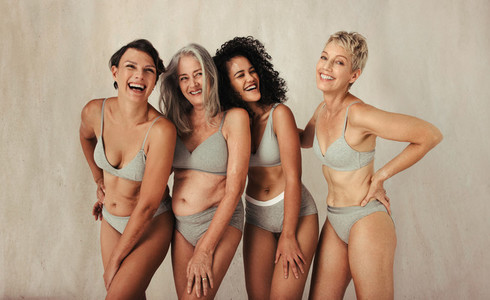 Diverse and happy women of different ages