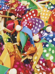 Rainbow colorful pinwheel toy for children