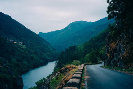 road and river