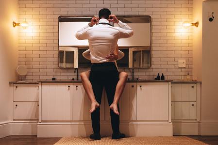 Dressing room romance