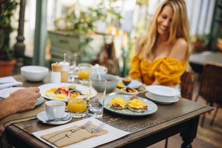 Luxury breakfast at a luxury hotel