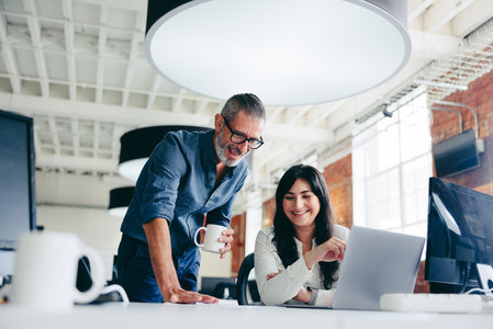 Creative businesspeople making success in the office