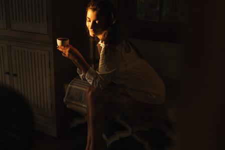 Coffee in the dark