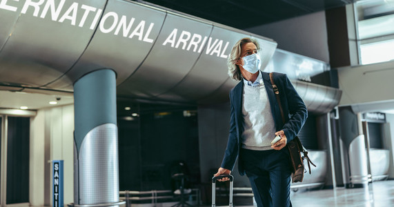 Travelling with facemask