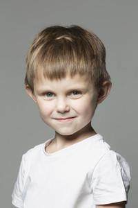Portrait smiling boy