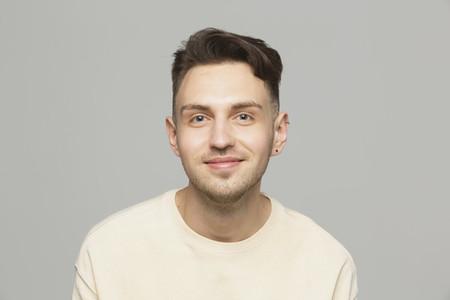Portrait smiling young man