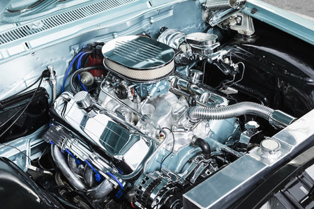 Chrome parts in car engine
