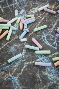 Multicolor sidewalk chalk