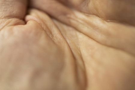 Close up lines on hand